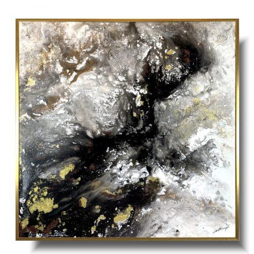 Kolekcja autorska abstrakcja złoty pył