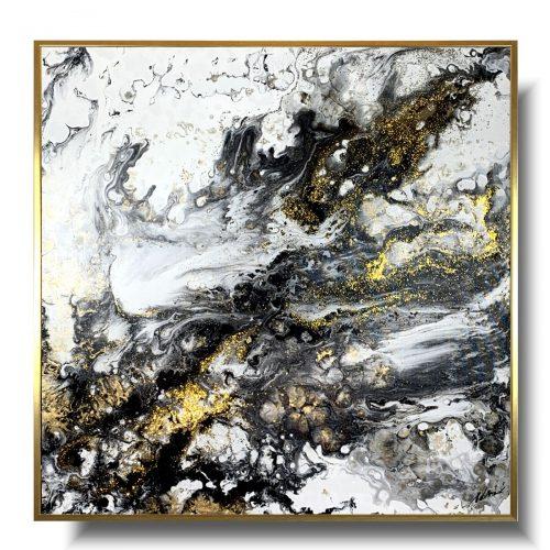 Nowoczesny obraz abstrakcja jasny marmur
