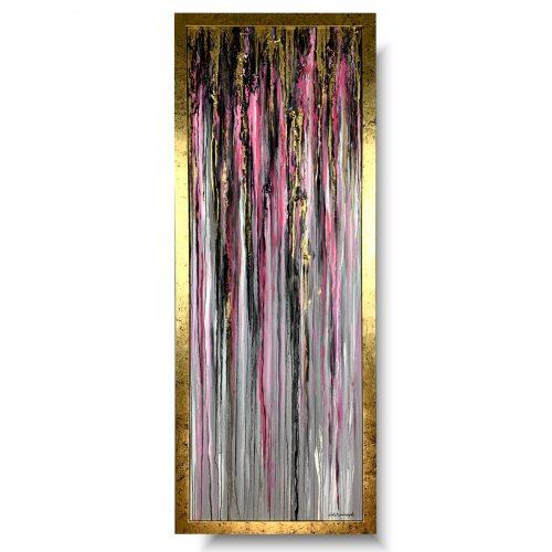 Obraz pionowy różowe łzy abstrakcja