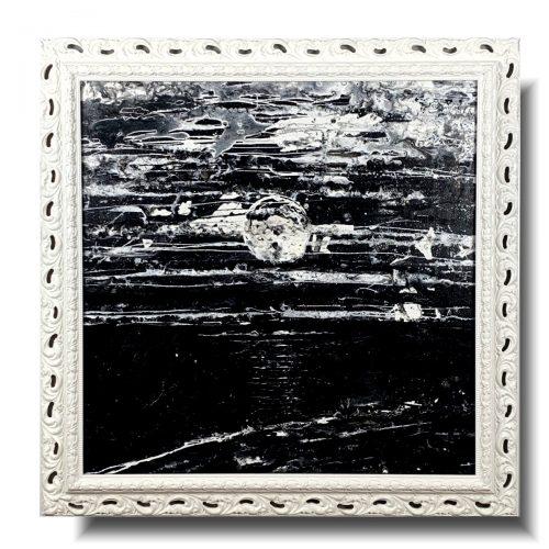 Nowoczesny obraz nokturn w czerni